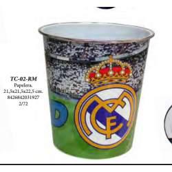 PAPELERA CYP REAL MADRID PLASTICO 25CM TC-02-RM