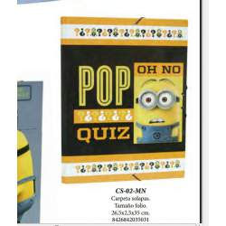 CARPETA DEC FL GOMAS CYP MINIONS CARTON CS-02-MN