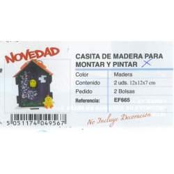 CASITA MADERA ITKREA MARQUETERIA 12*12 EF665 PTE 2U