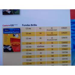 FUNDA PLASTIFICAR 60*90 125M C/100U FELLOWES