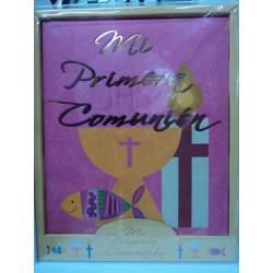 LIBRO COMUNION ARGU ROSA DETALLES ORO 38438
