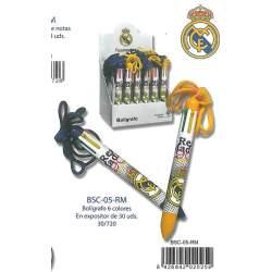 BOLIGRAFO CYP COLGANTE 6 COL. COLGANTE REAL MADRID BSC-05-RM