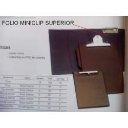 CARPETA PLAST. MINICLIP FL LISA SUPERIOR APERTURA 9334