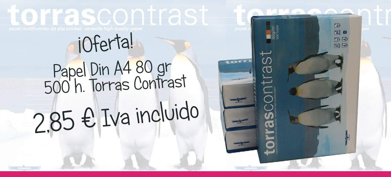 Oferta Papel Din A4 Torras Contrast